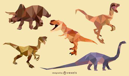Conjunto poligonal de dinossauros