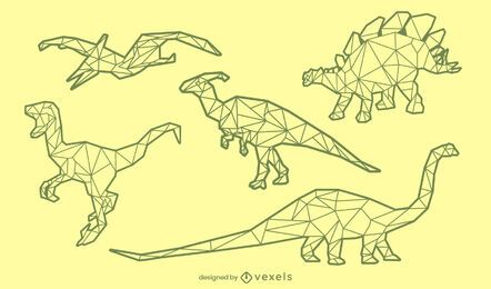 ? Conjunto de trazo poligonal de dinosaurio