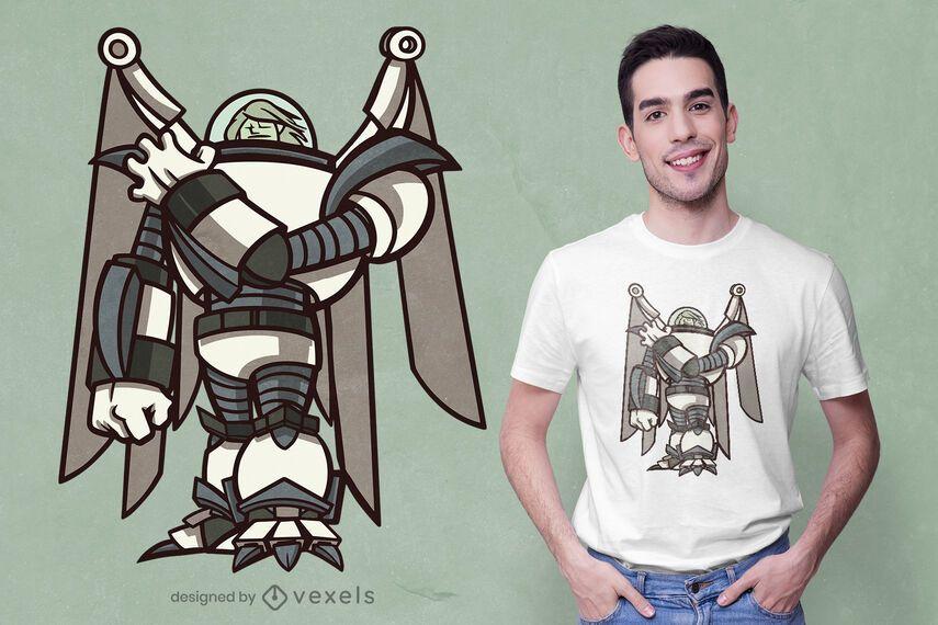 Technological angel t-shirt design