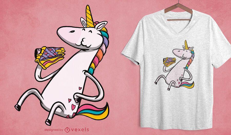 Unicorn pie t-shirt design