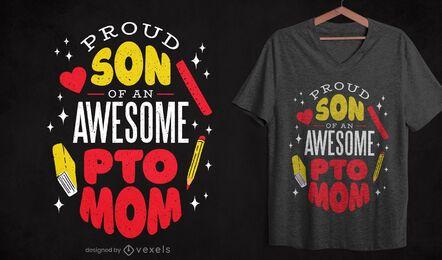 Diseño de camiseta madre PTO