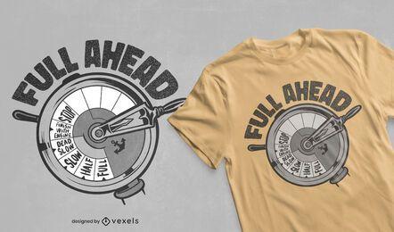 Diseño de camiseta con cita de telégrafo