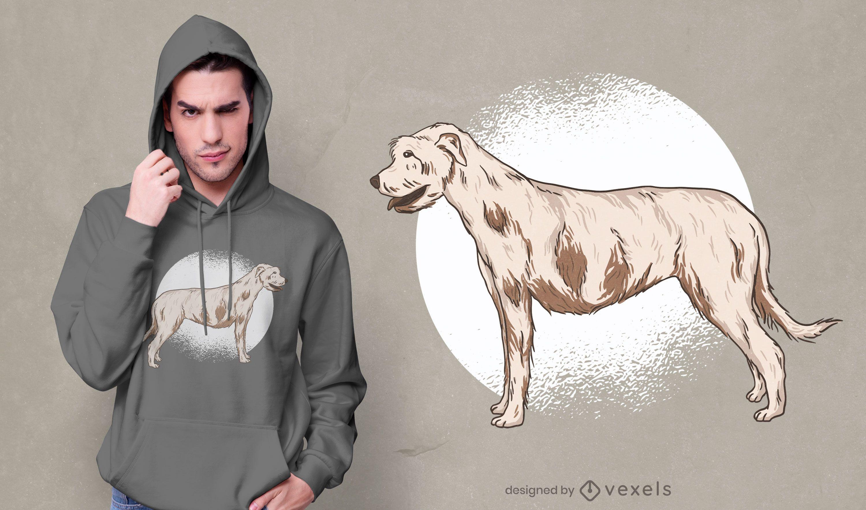 Diseño de camiseta Irish Wolfhound