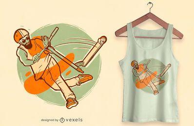 Design de camiseta estilo livre de patinete