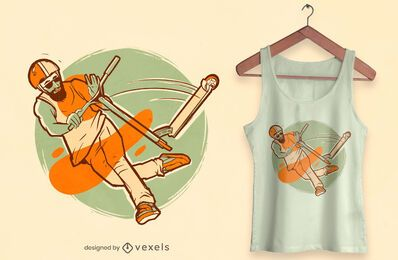 Diseño de camiseta scooter freestyle.