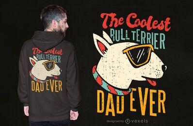 Bullterrier Papa T-Shirt Design