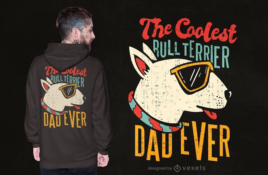 Bull terrier dad t-shirt design