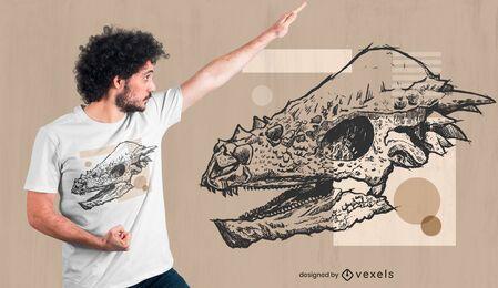 Pachycephalosaurus t-shirt design