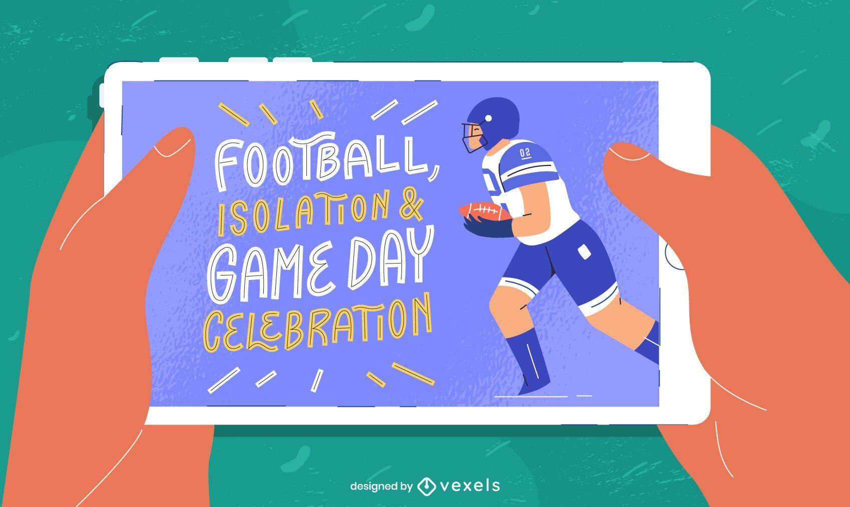 Ilustración de superbowl de tableta