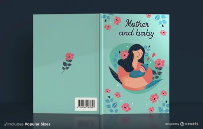 Mother and baby book cover design