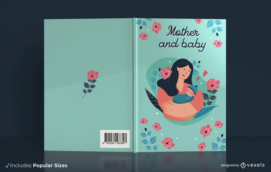 Design de capa de livro para mãe e bebê