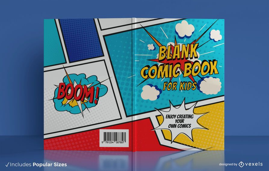 Kids comic book cover design