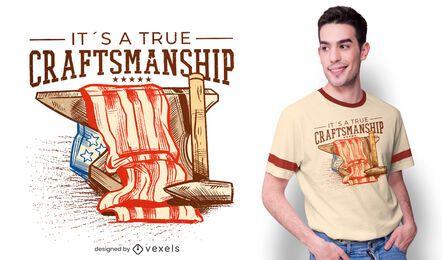 Design de t-shirt artesanal com bandeira americana