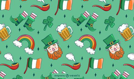 St Patricks Day Musterdesign