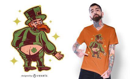 Diseño de camiseta de tatuaje de duende