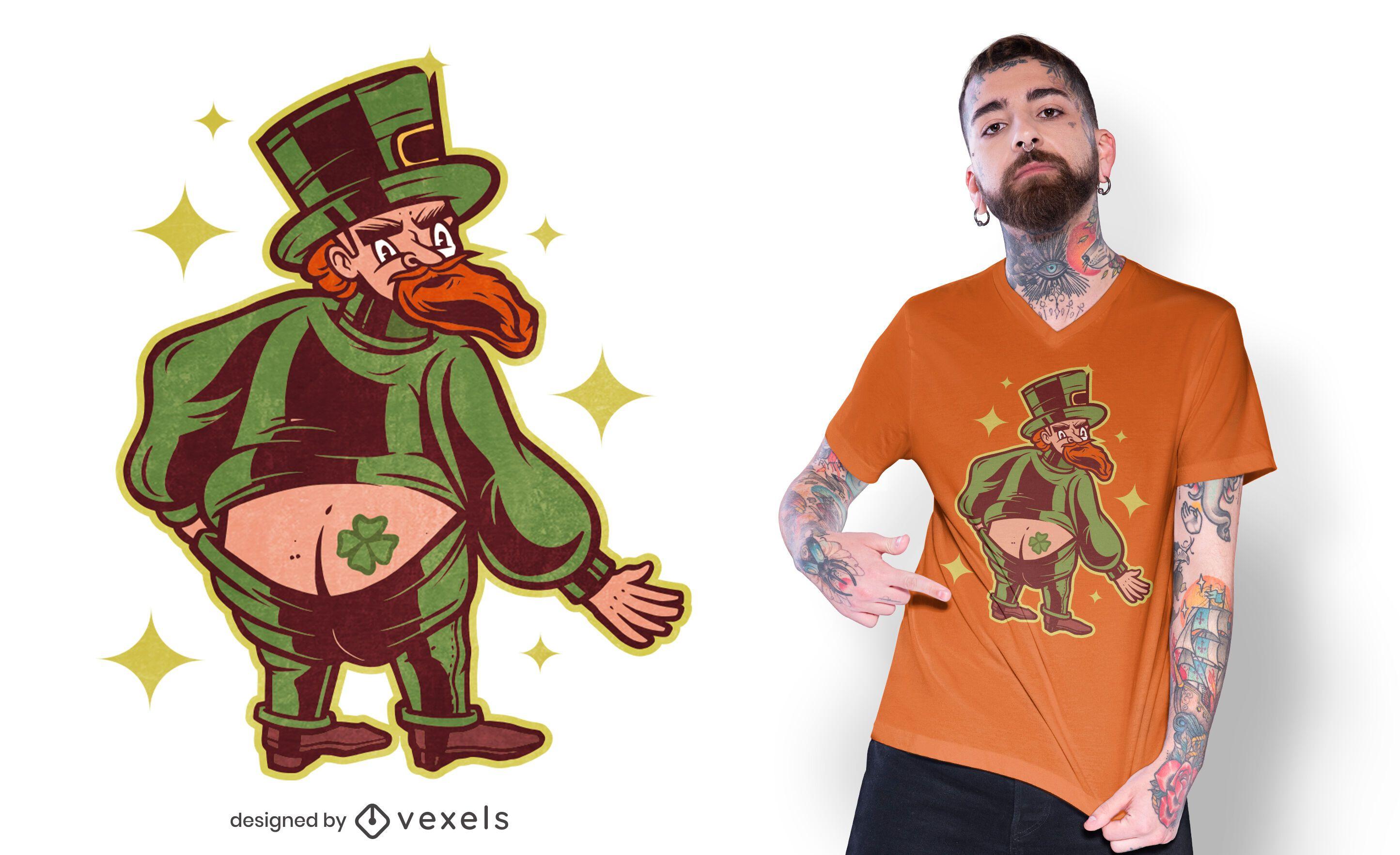 Leprechaun tattoo t-shirt design