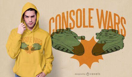Design de camiseta de guerra de console