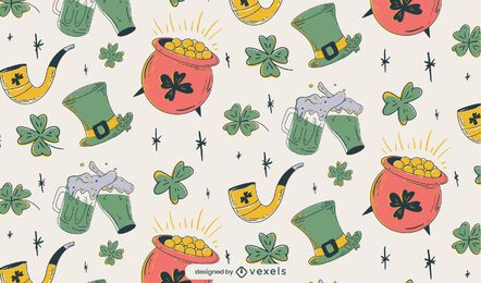 St Patricks pattern design