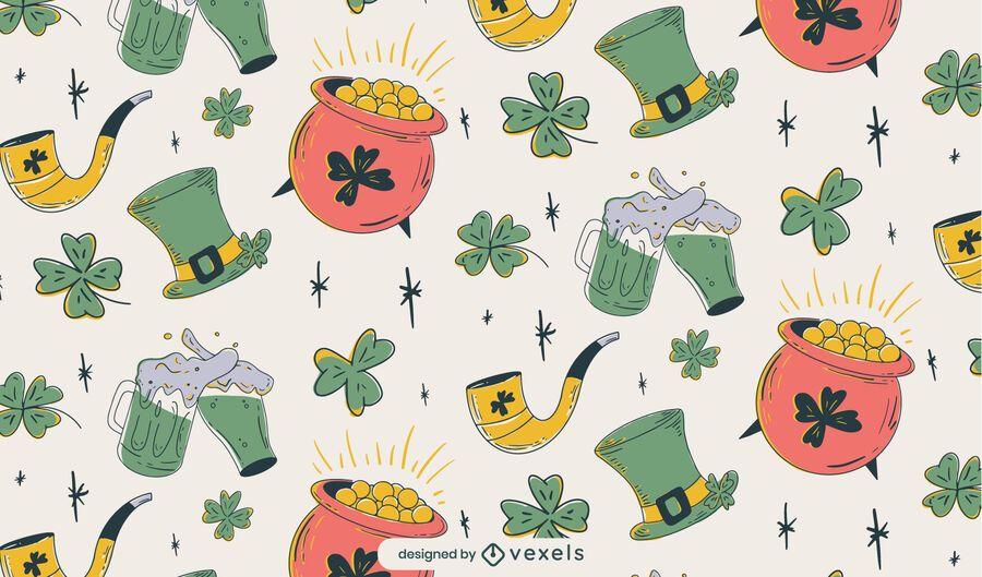 Diseño de patrón de St Patricks