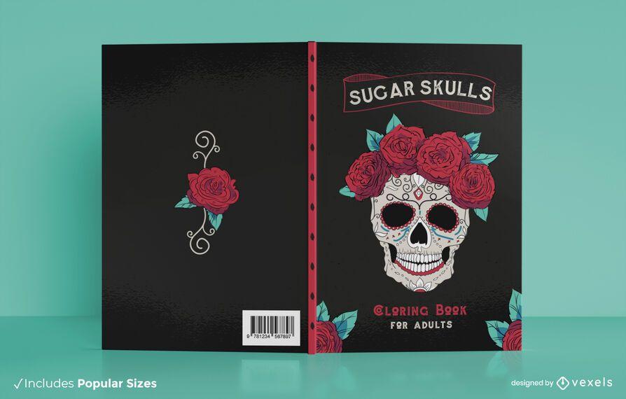 Sugar skull book cover design