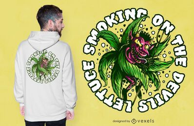 Diseño de camiseta Devil Weed