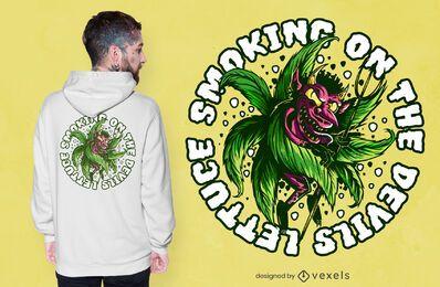Teufel Unkraut T-Shirt Design