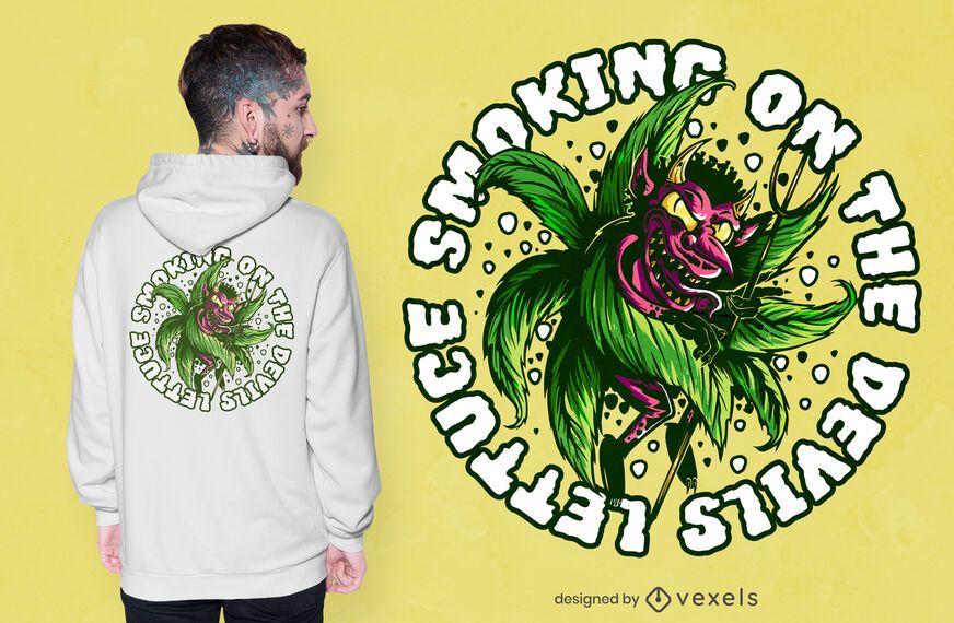Design de camiseta da erva daninha do diabo