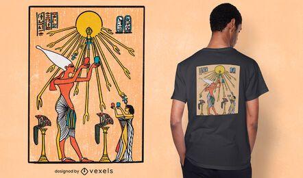Diseño de camiseta aten egypt