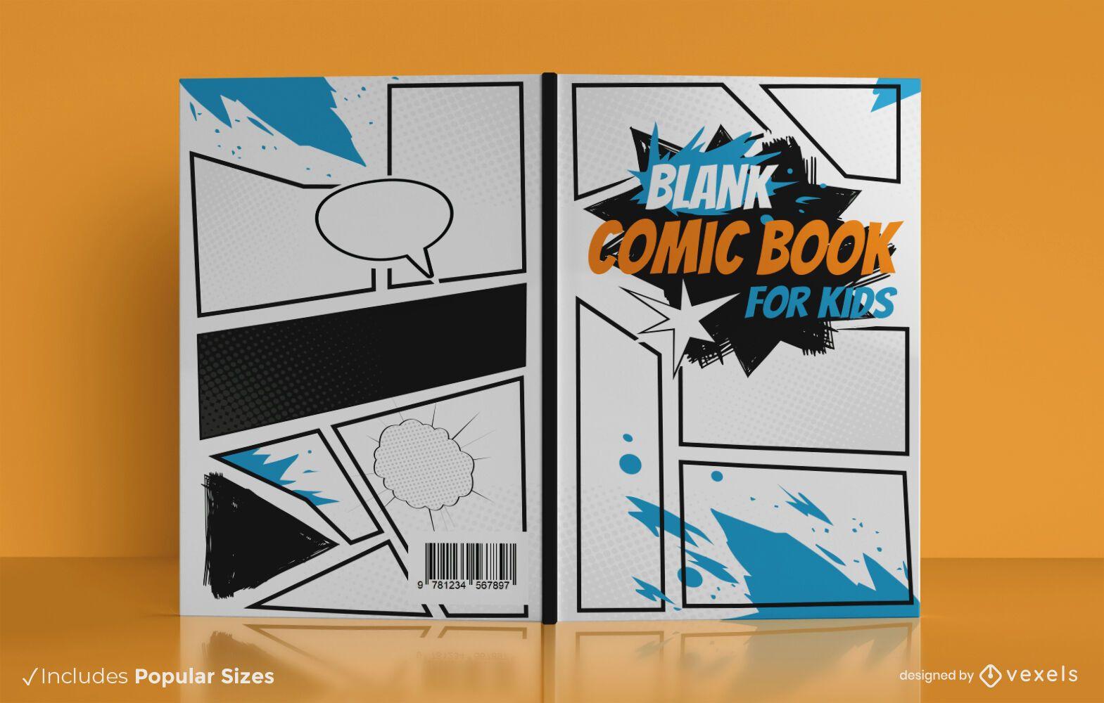Design de capa de livro de quadrinhos infantis