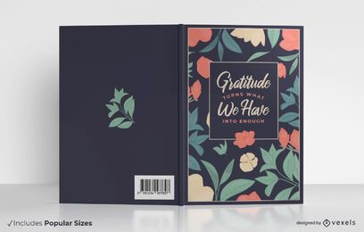 Gratitude quote book cover design