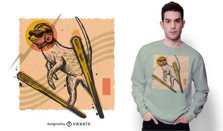 Erdmännchen Ski T-Shirt Design