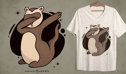 Dabbing ferret t-shirt design