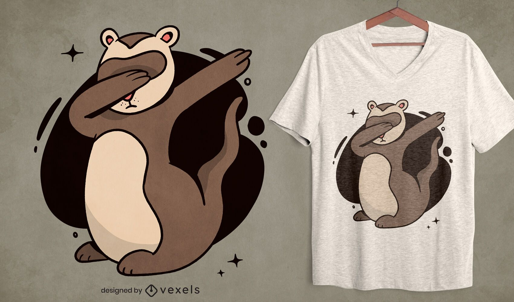 Diseño de camiseta Dabbing Hurón