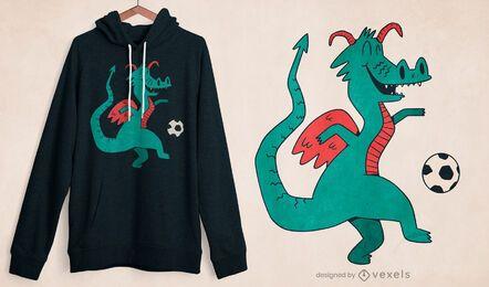 Diseño de camiseta de dragón de fútbol.