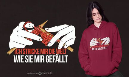 Stricken Deutsch Zitat T-Shirt Design