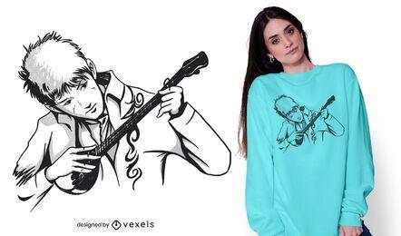 Dombra man t-shirt design