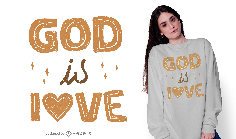 God is love t-shirt design