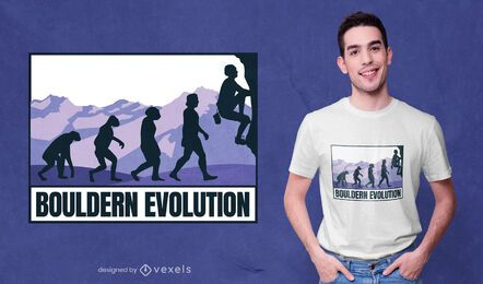 Bouldering evolution t-shirt design