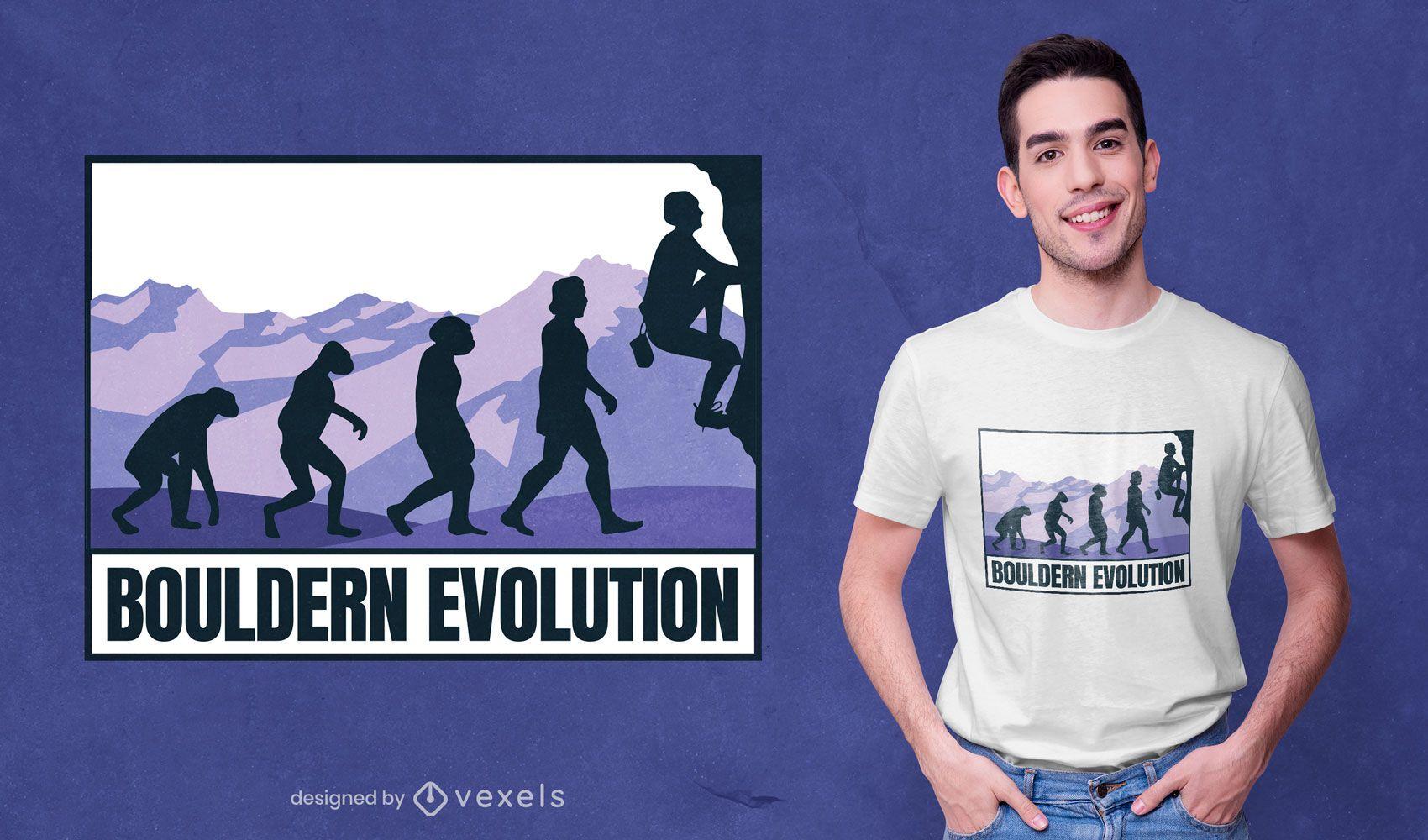 Bouldering evolution t-shirt design