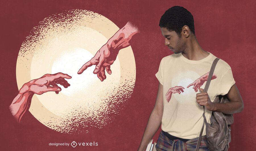 Diseño de camiseta de momento de creación.