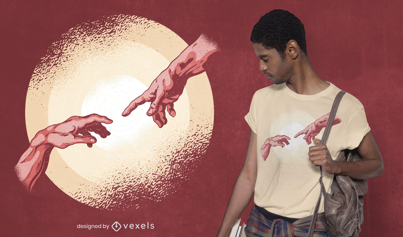 Creation moment t-shirt design