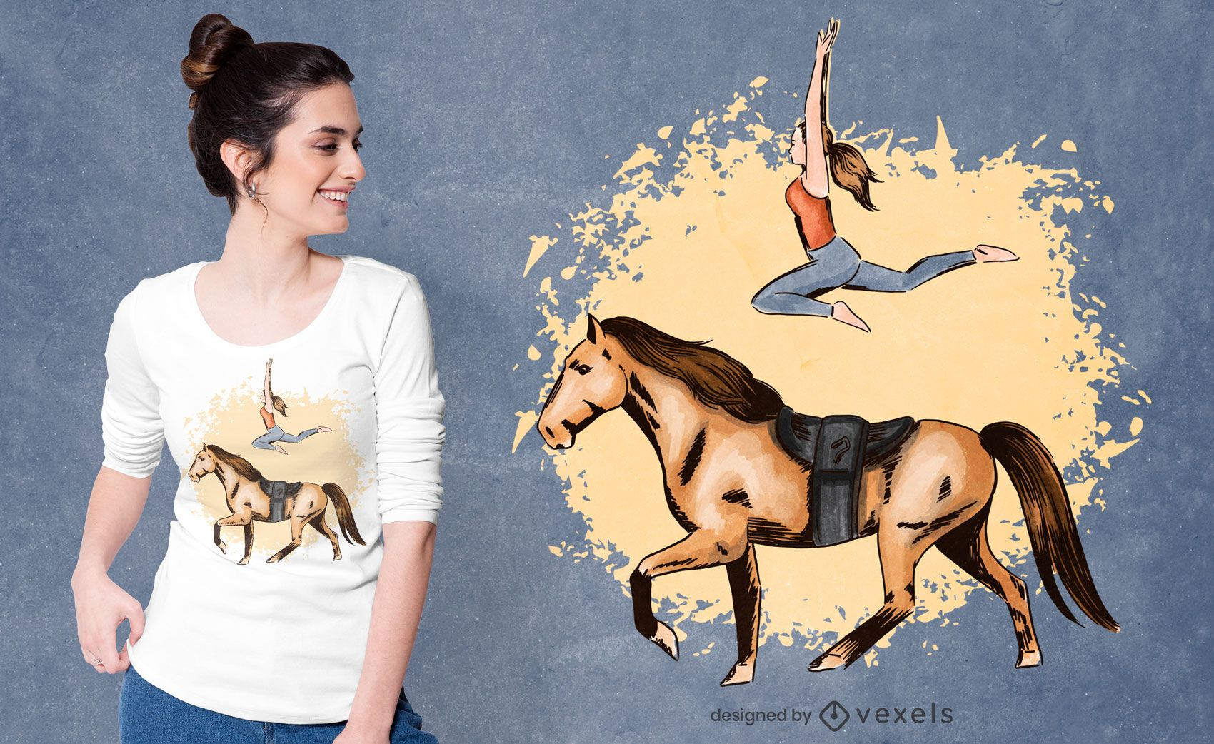 Horse trick t-shirt design