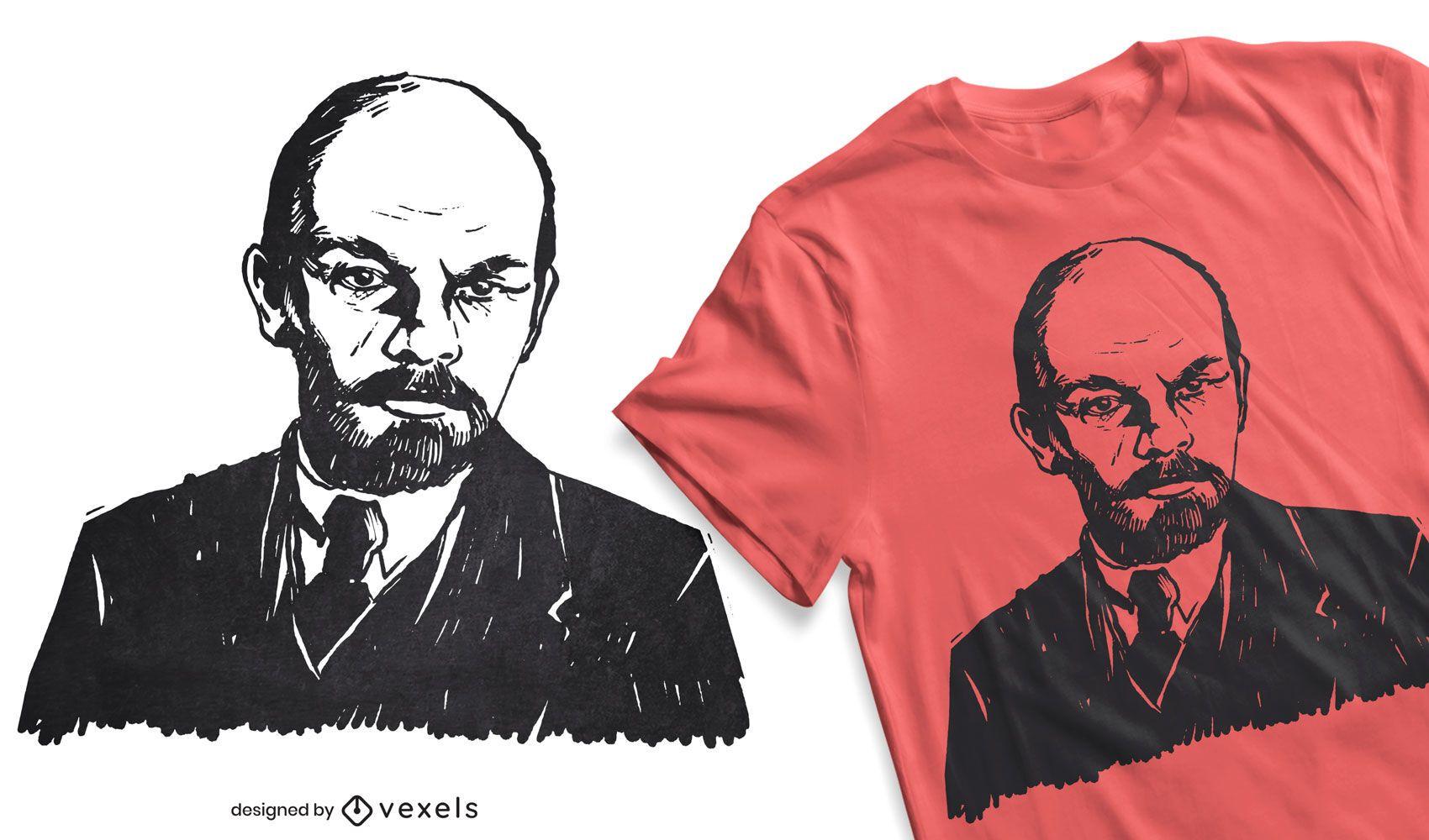 Diseño de camiseta de Lenin