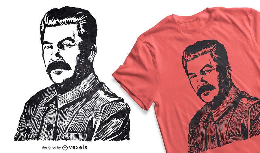 Diseño de camiseta de Stalin