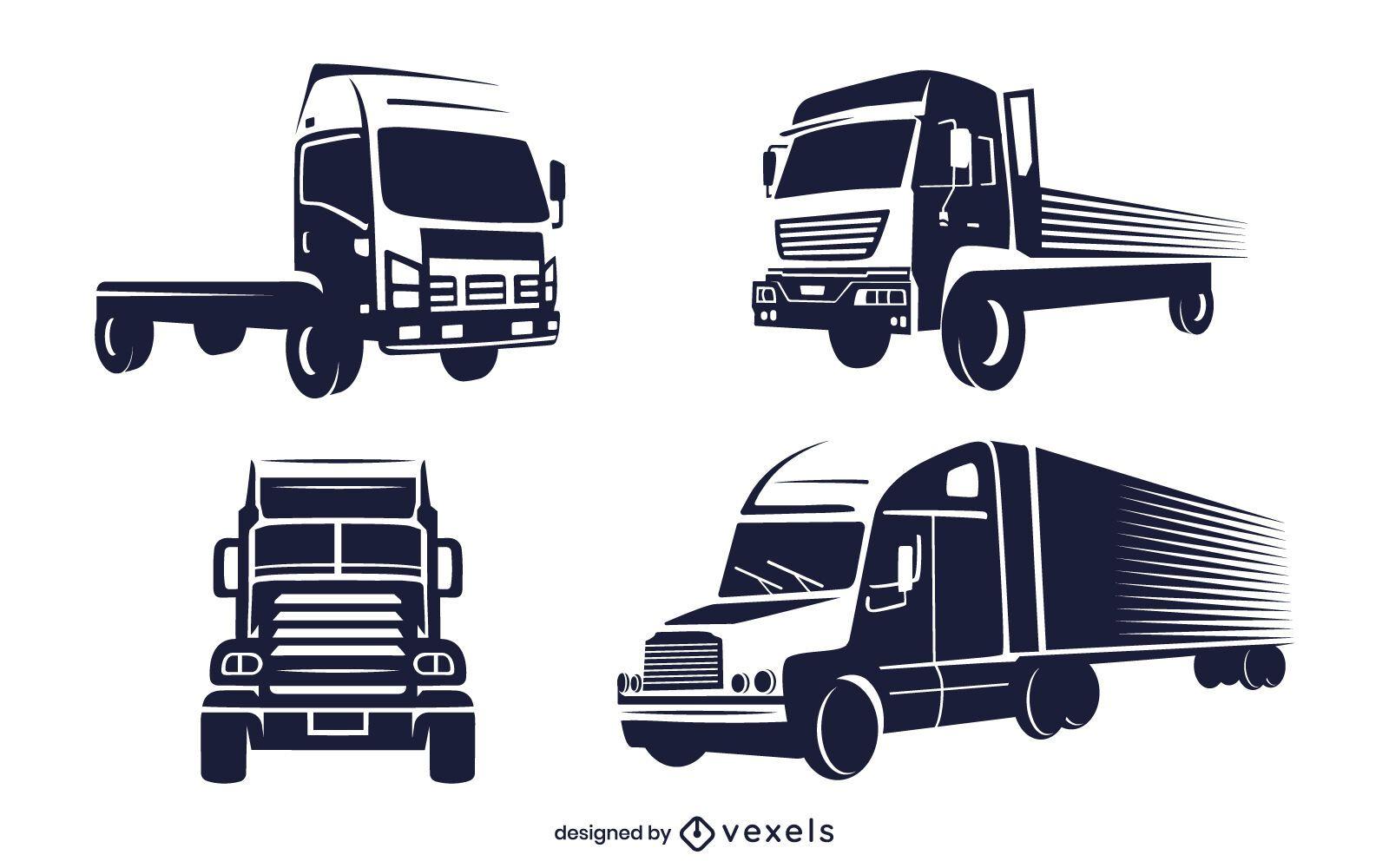 Conjunto monocromo de camión