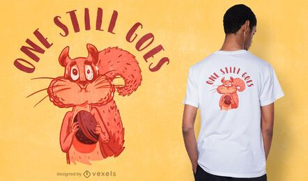 One still goes t-shirt design