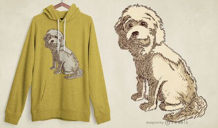 Cockapoo Hund T-Shirt Design