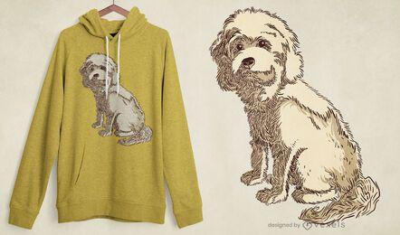Diseño de camiseta de perro cockapoo