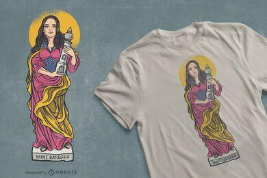 Diseño de camiseta de Santa Bárbara