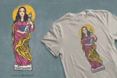 Saint Barbara t-shirt design